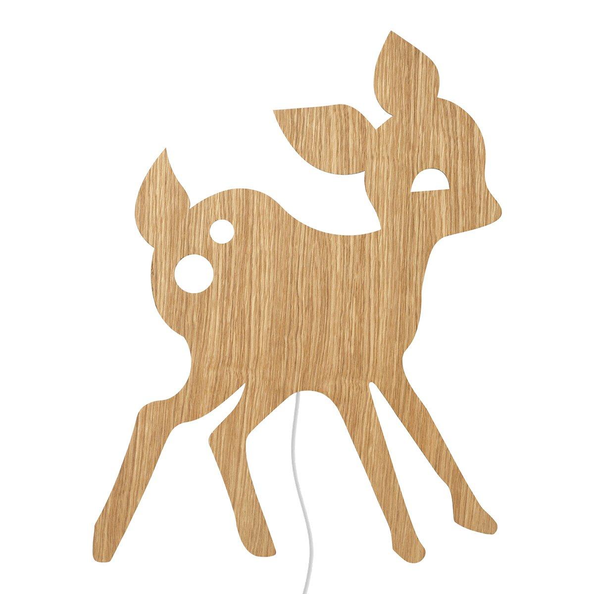 Ferm Living My Deer Wandlamp - Oiled Oak