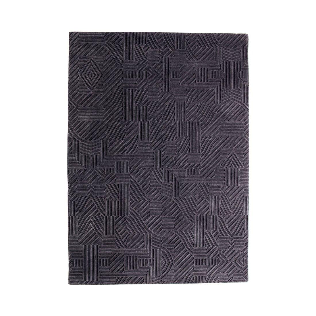 Nanimarquina African Pattern 3 Vloerkleed Large - Zwart/Paars