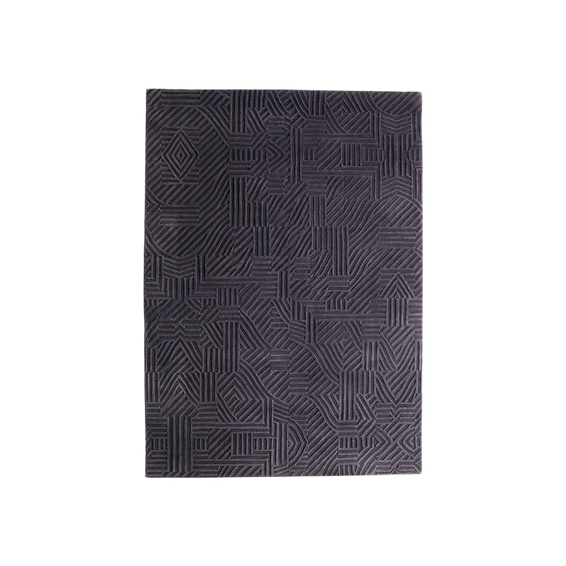 Nanimarquina African Pattern 3 Vloerkleed Small - Zwart/Paars