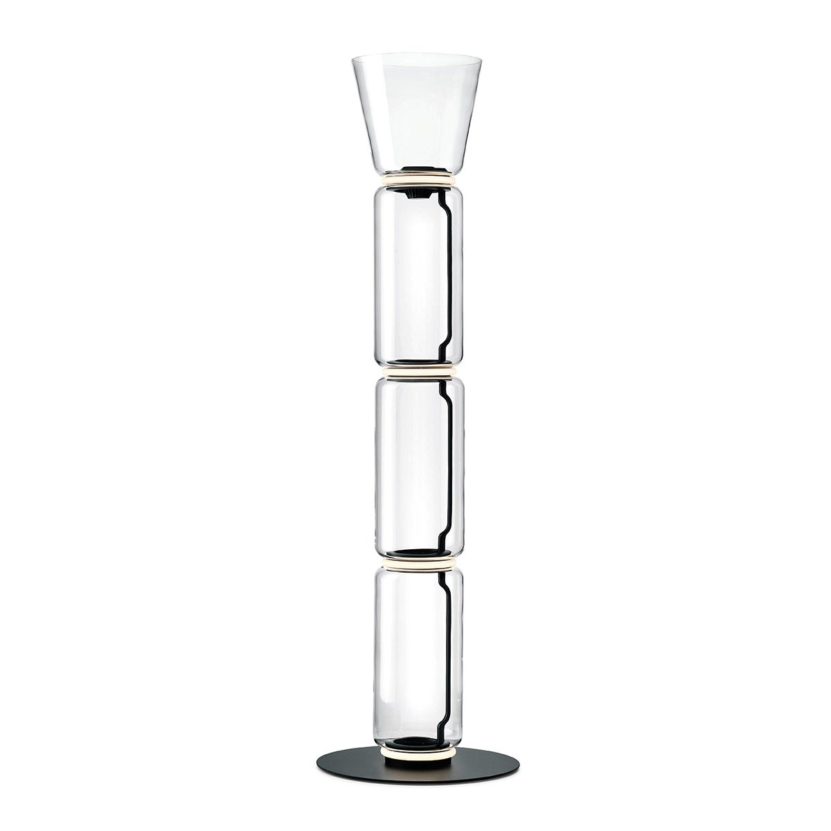 FLOS Noctambule Vloerlamp - 3 High Cylinders & Cone