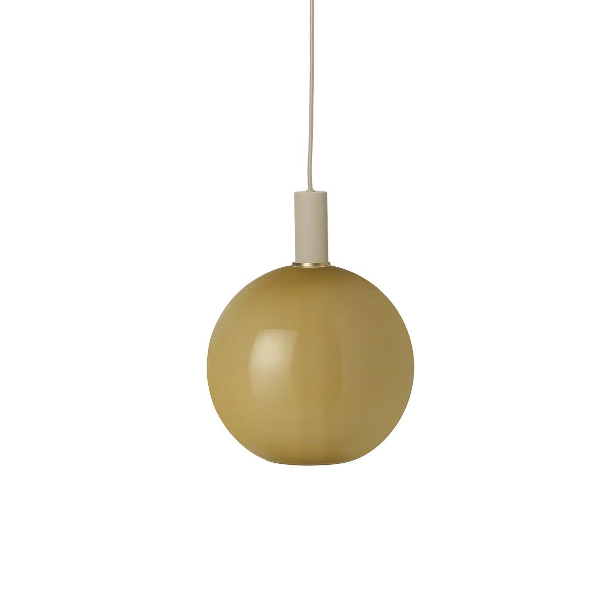 Ferm Living Collect Opal Sphere Low Hanglamp - Southern Moss - Lichtgrijs