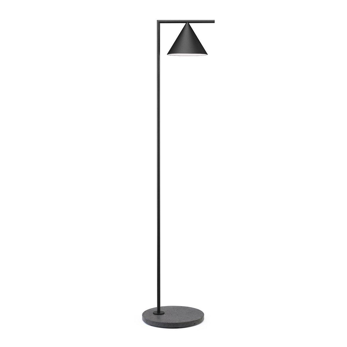 FLOS Captain Flint Outdoor Vloerlamp - Zwart Aluminium - 2700 Kelvin