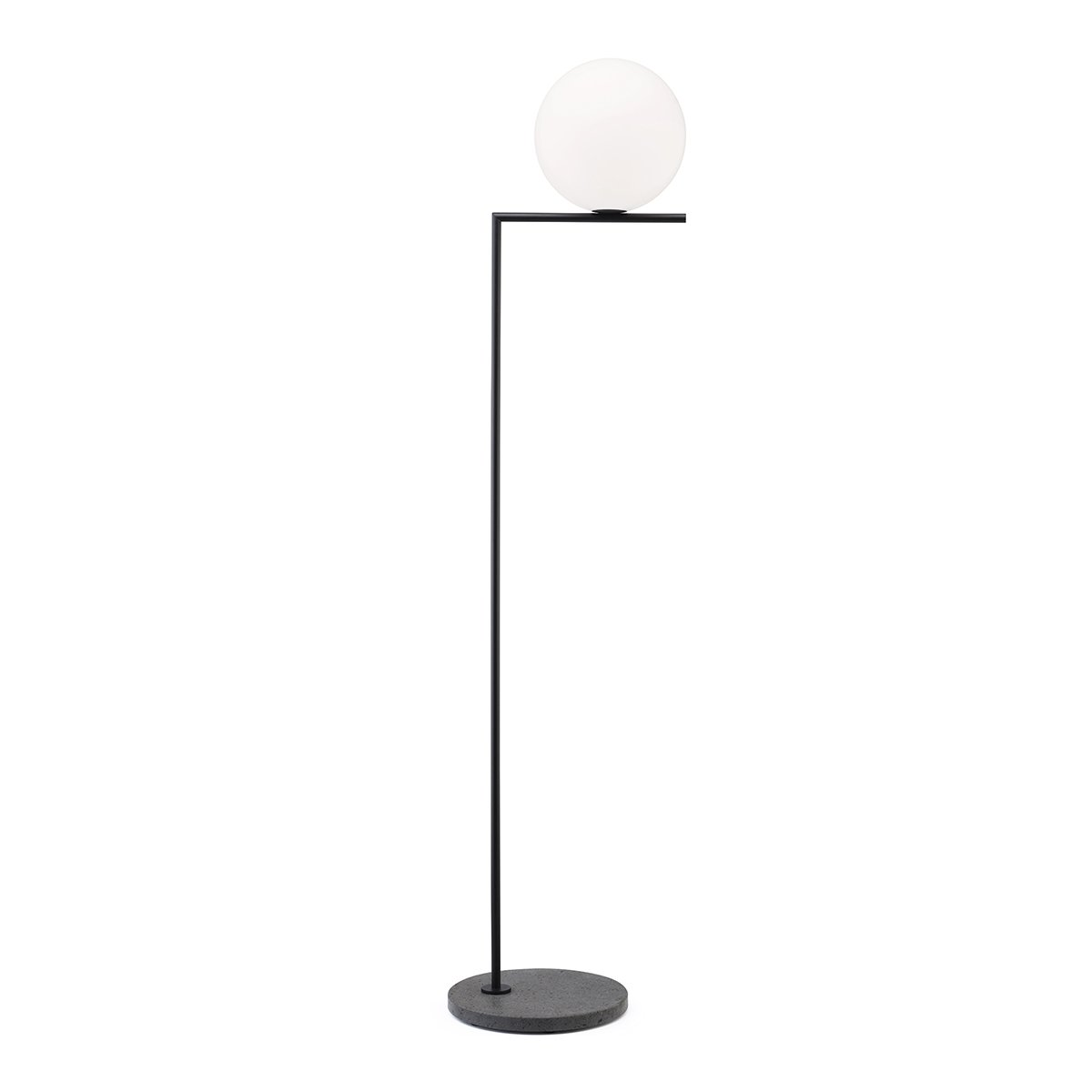 FLOS IC Light Outdoor Vloerlamp F2 - Zwart Aluminium