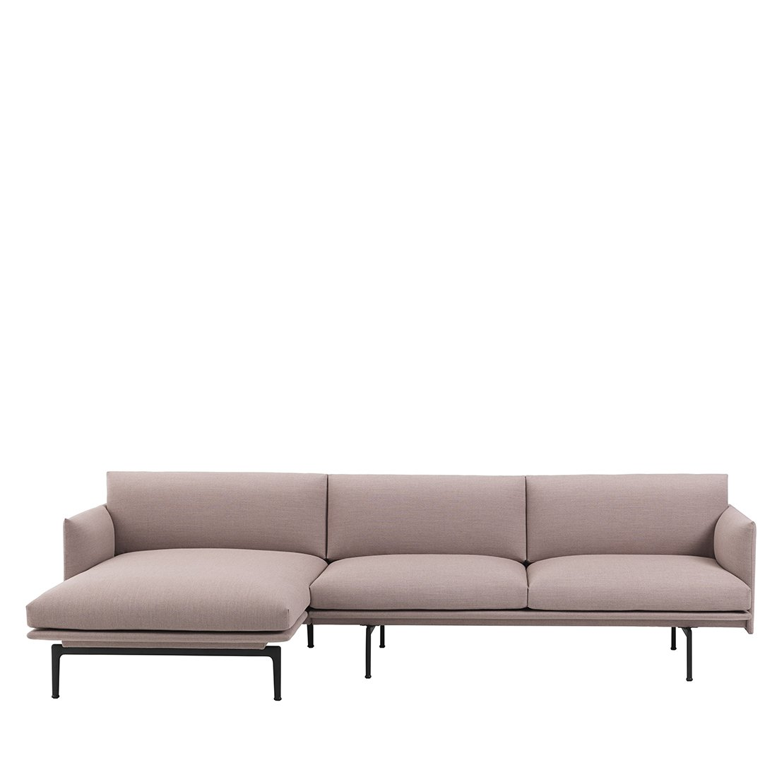 Muuto Outline Bank met Chaise Longue Links - Fiord 551