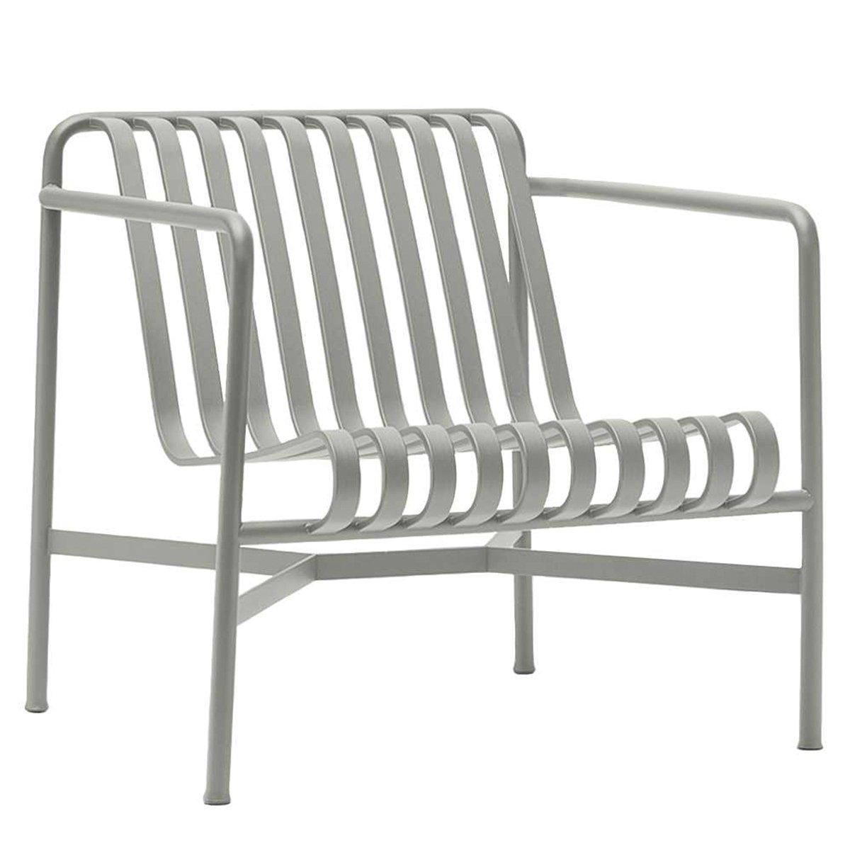 HAY Palissade Loungestoel met lage rug Sky Grey