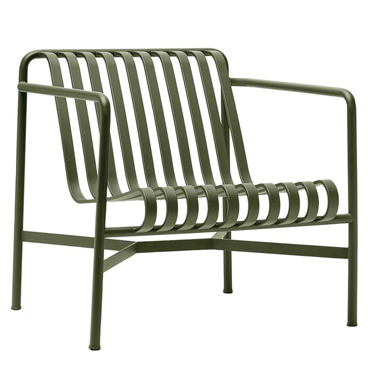 HAY Palissade Loungestoel met lage rug Olijfgroen