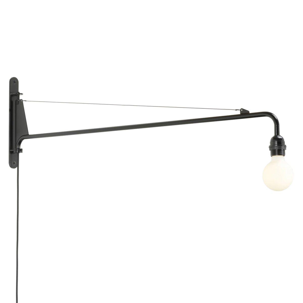 Vitra Petite Potence Wandlamp - Diepzwart