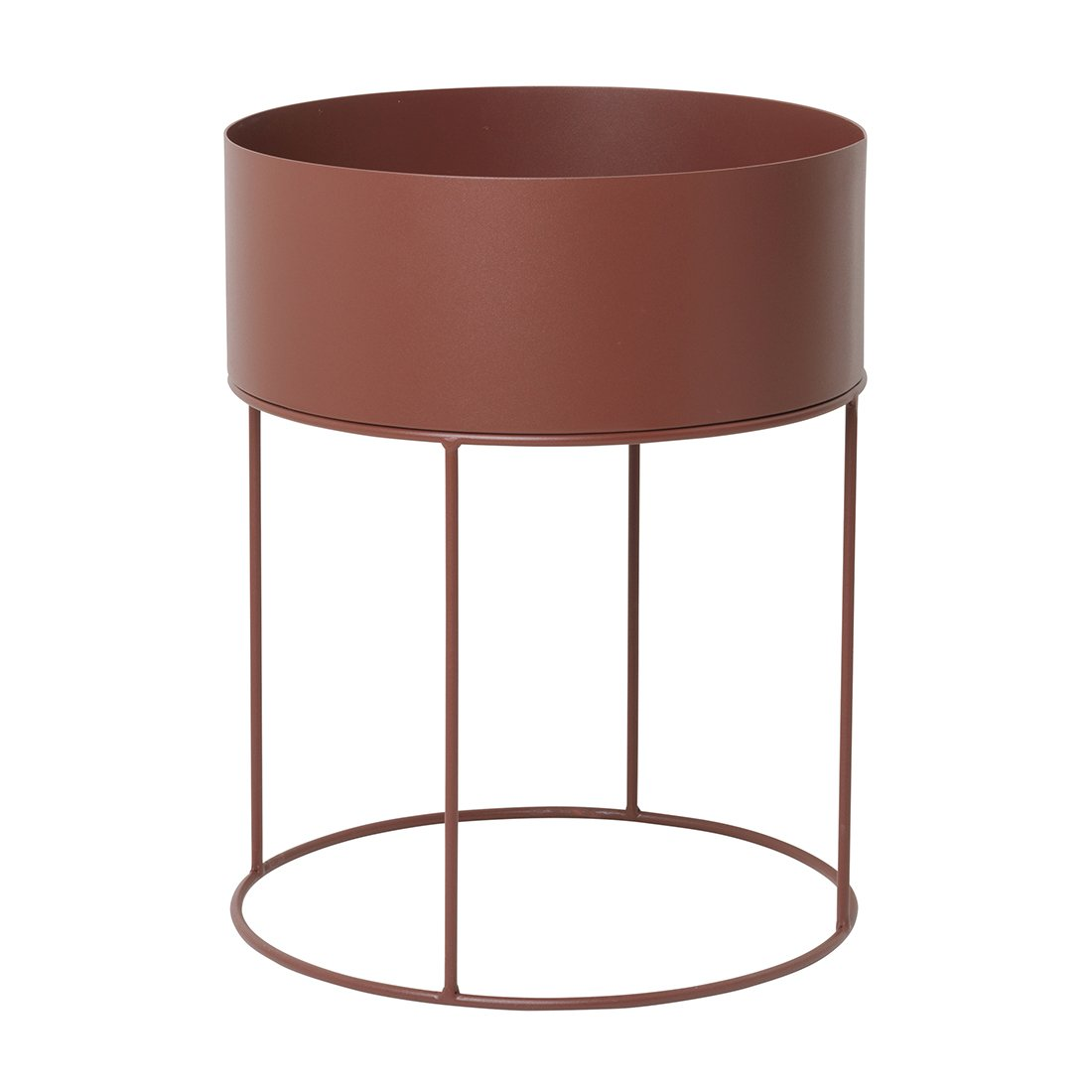Ferm Living Plant Box Rond Rood