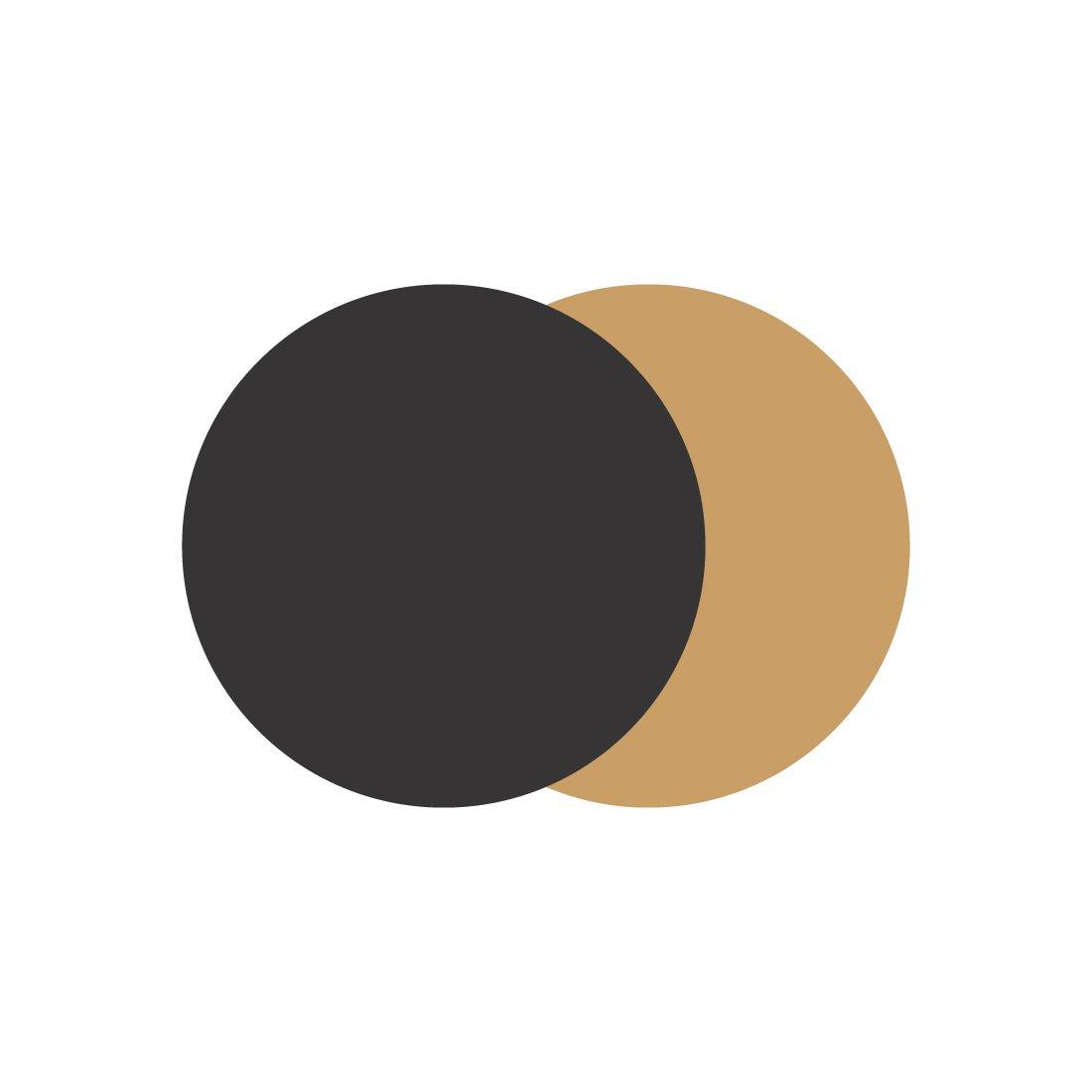 Marset Scotch Wandlamp L Zwart - Goud