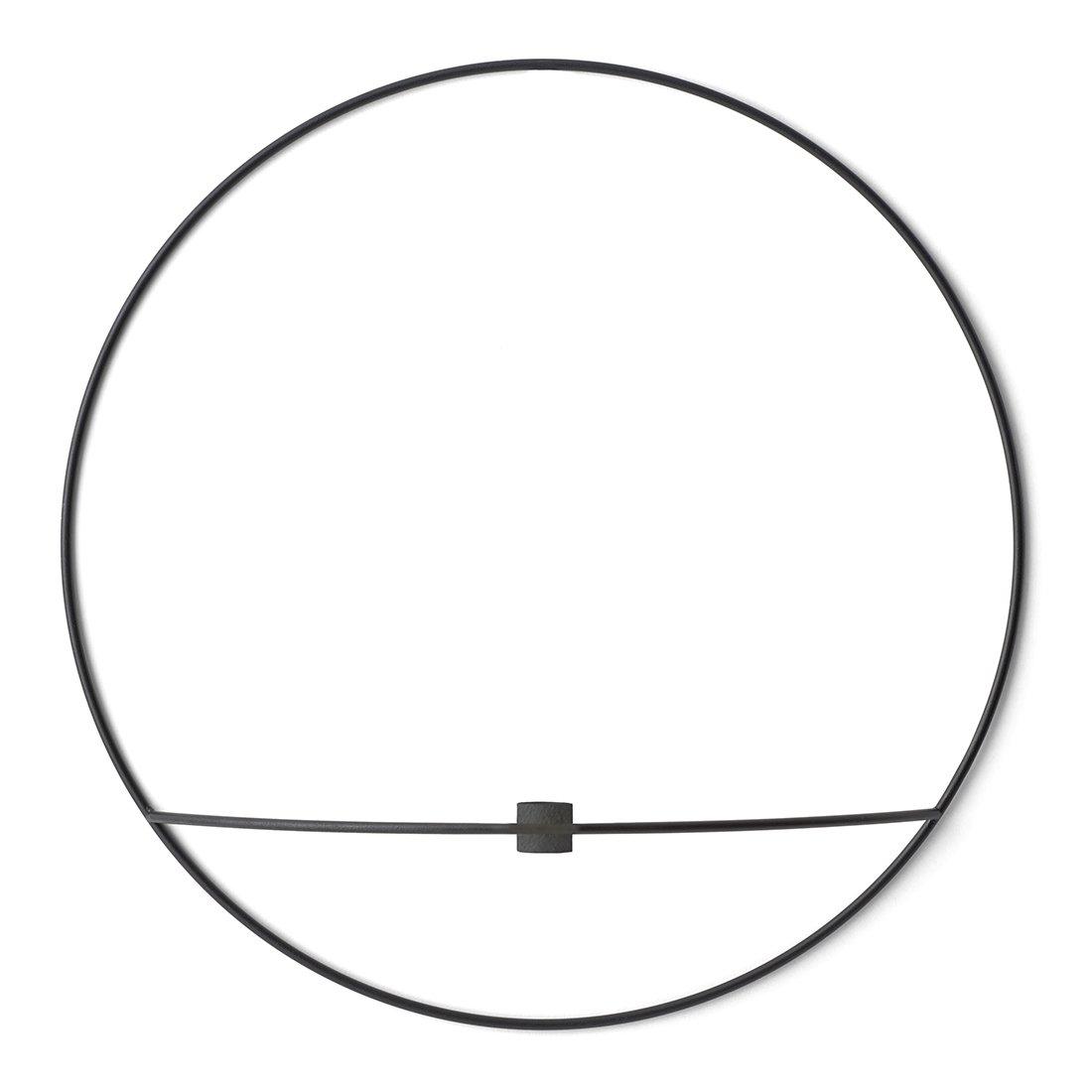 Menu Design POV Circle Kaarsenhouder Large Zwart
