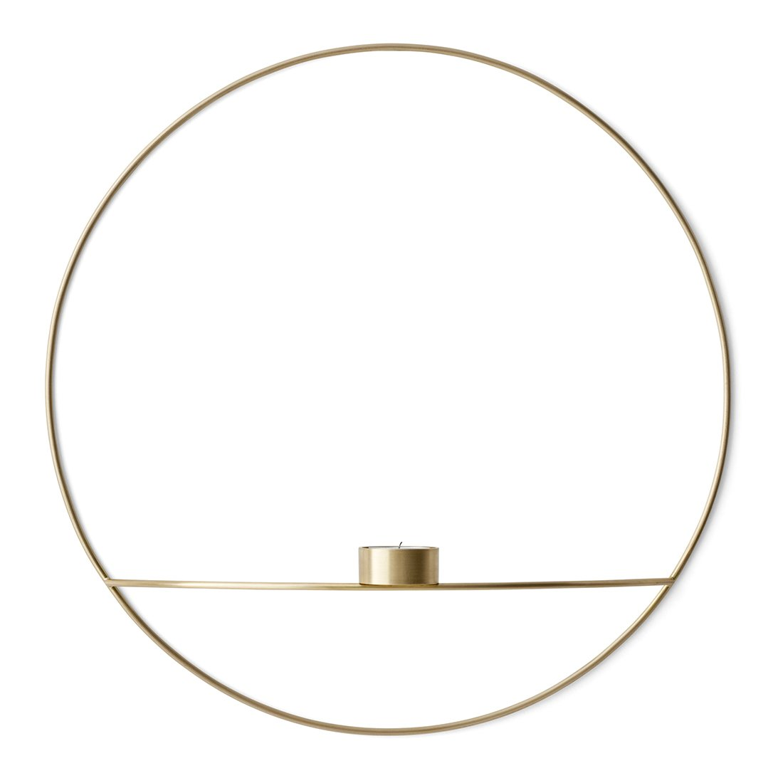 Menu Design POV Circle Theelichthouder Large Messing