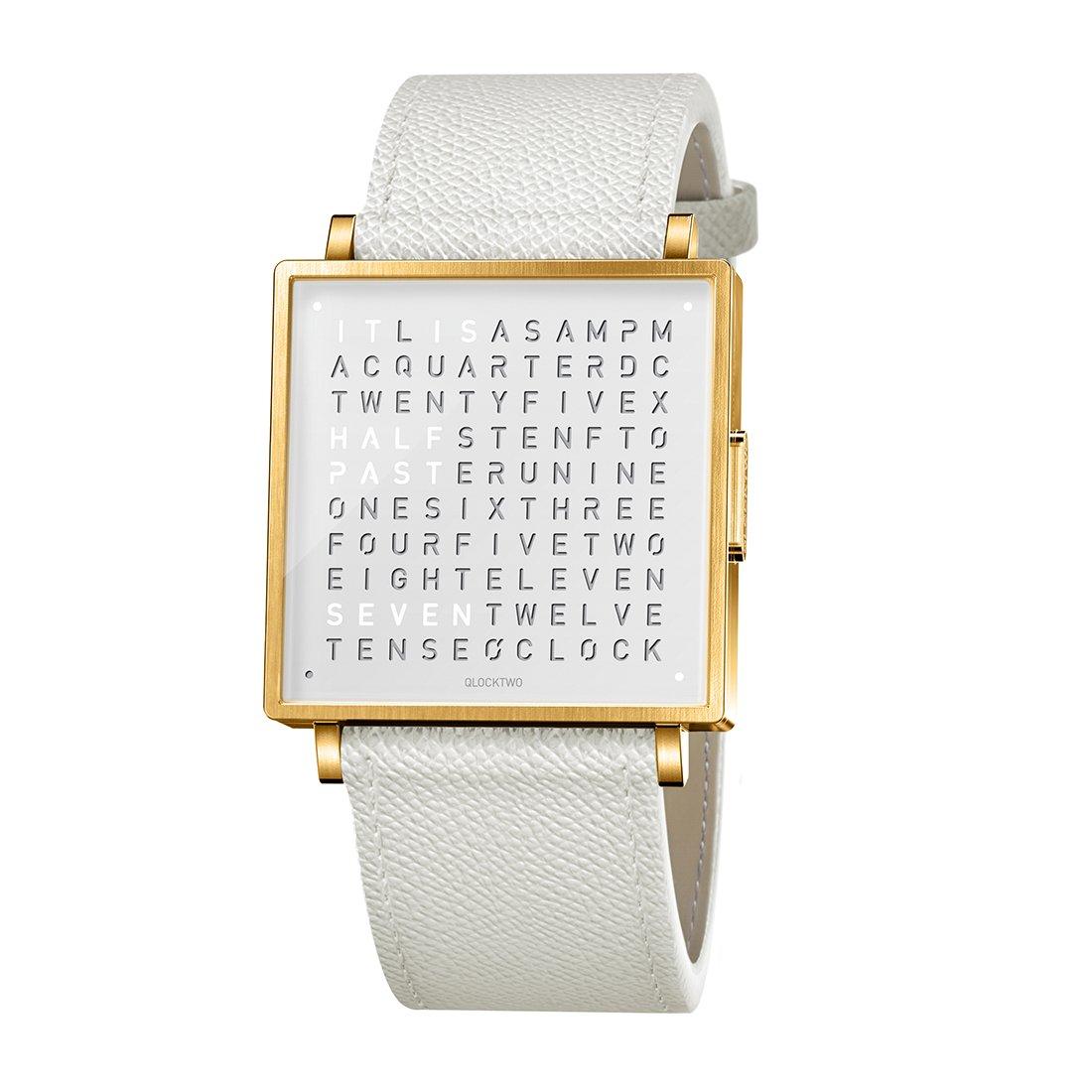 Biegert & Funk Qlocktwo Watch Gold White W35 - Engels