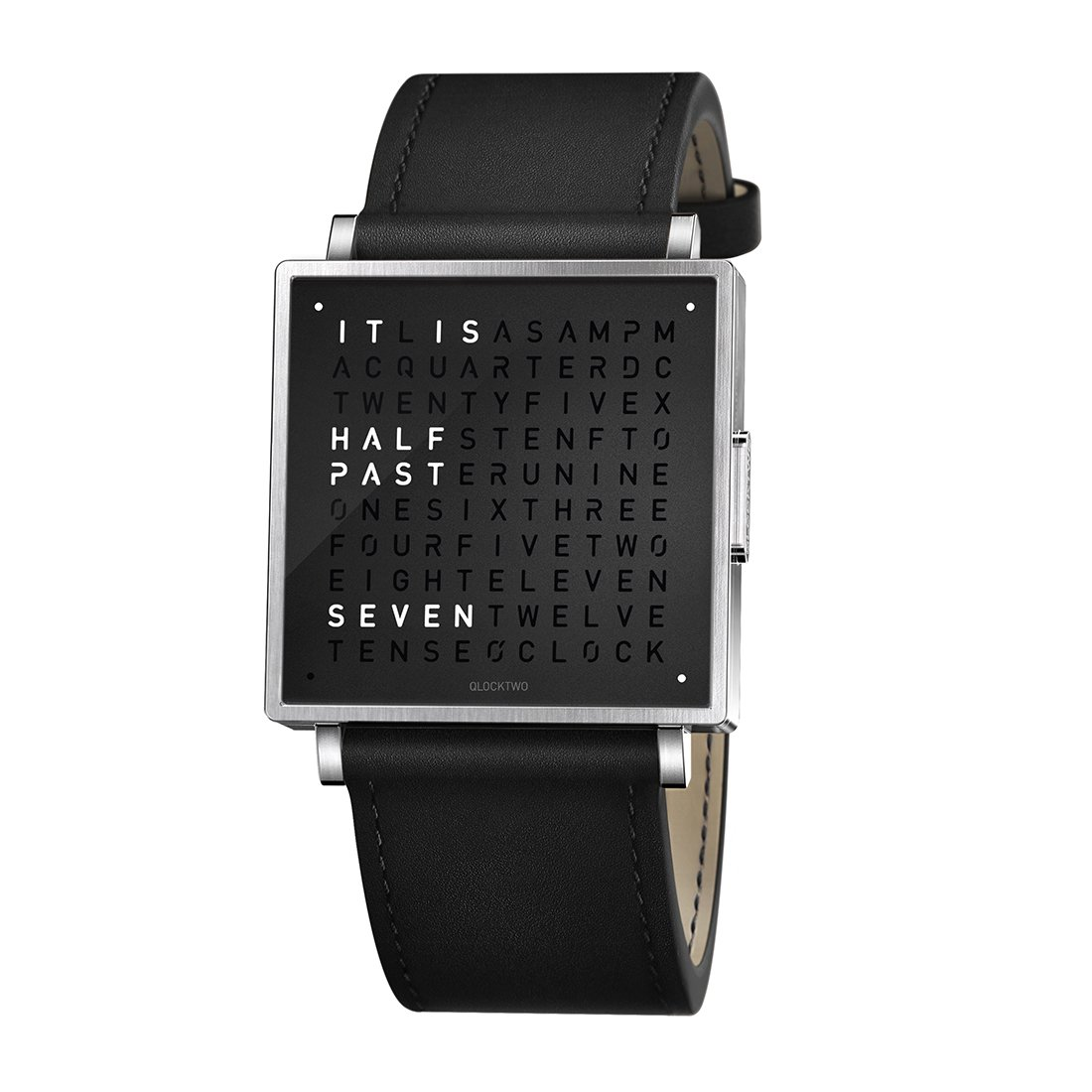 Biegert & Funk Qlocktwo Watch Pure Black W35 - Engels