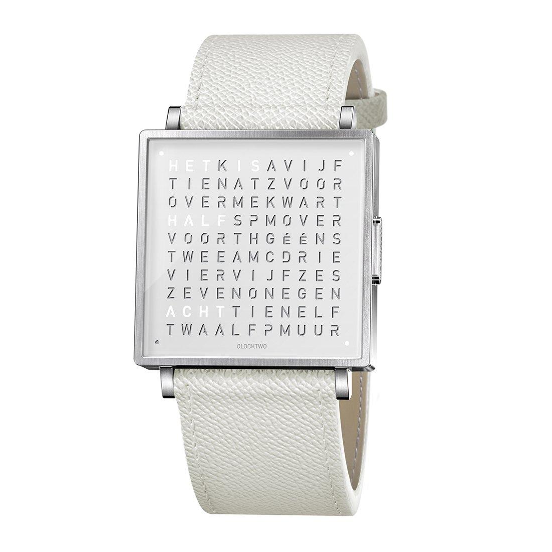 Biegert & Funk Qlocktwo Watch Pure White W39 - Nederlands