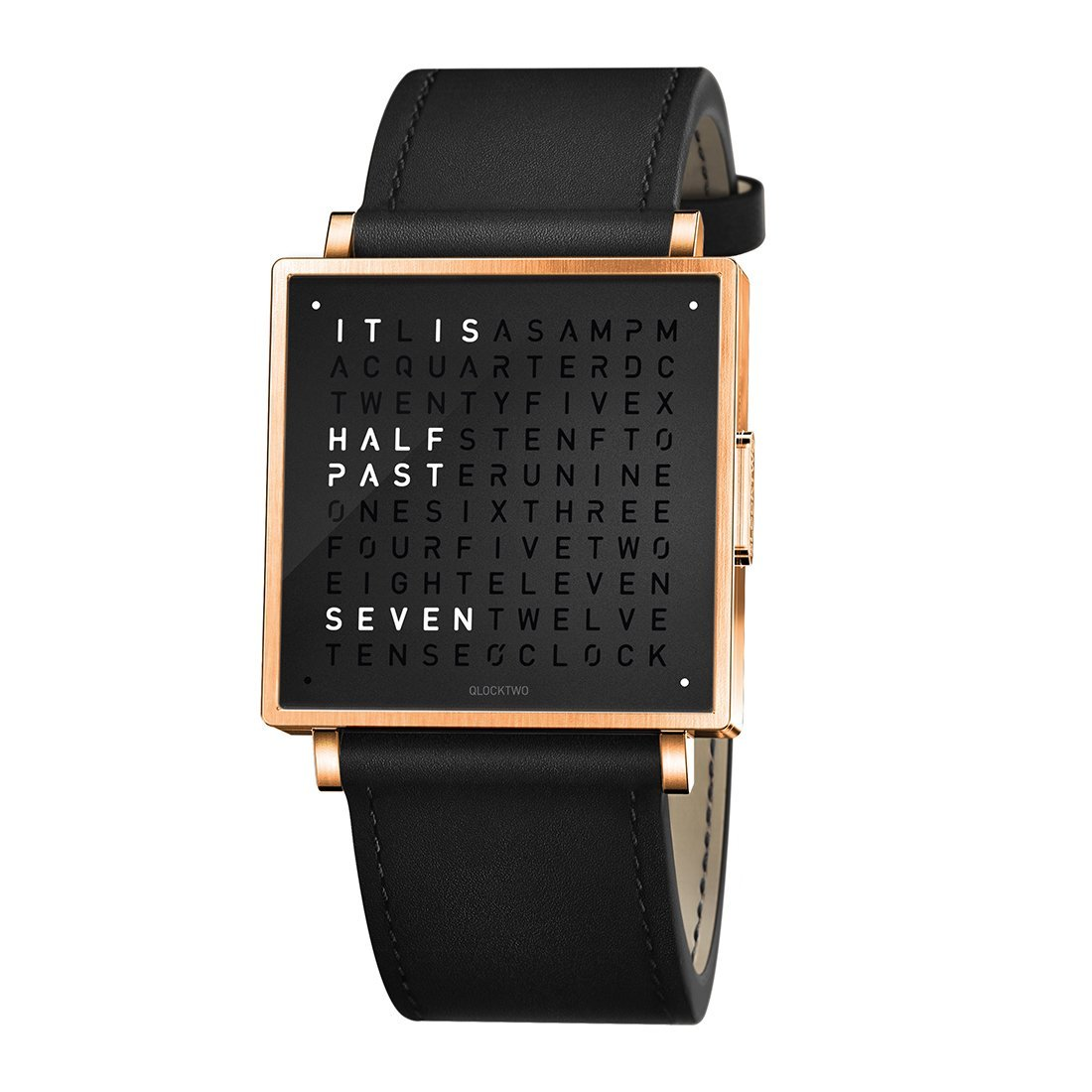 Biegert & Funk Qlocktwo Watch Rose Black W39 - Engels