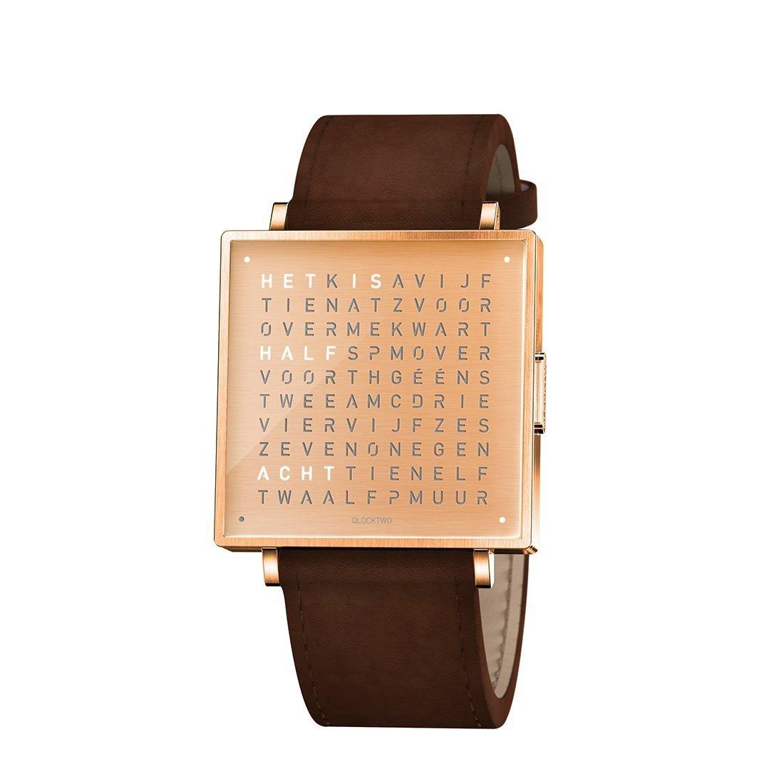 Biegert & Funk Qlocktwo Watch Copper W35 - Nederlands