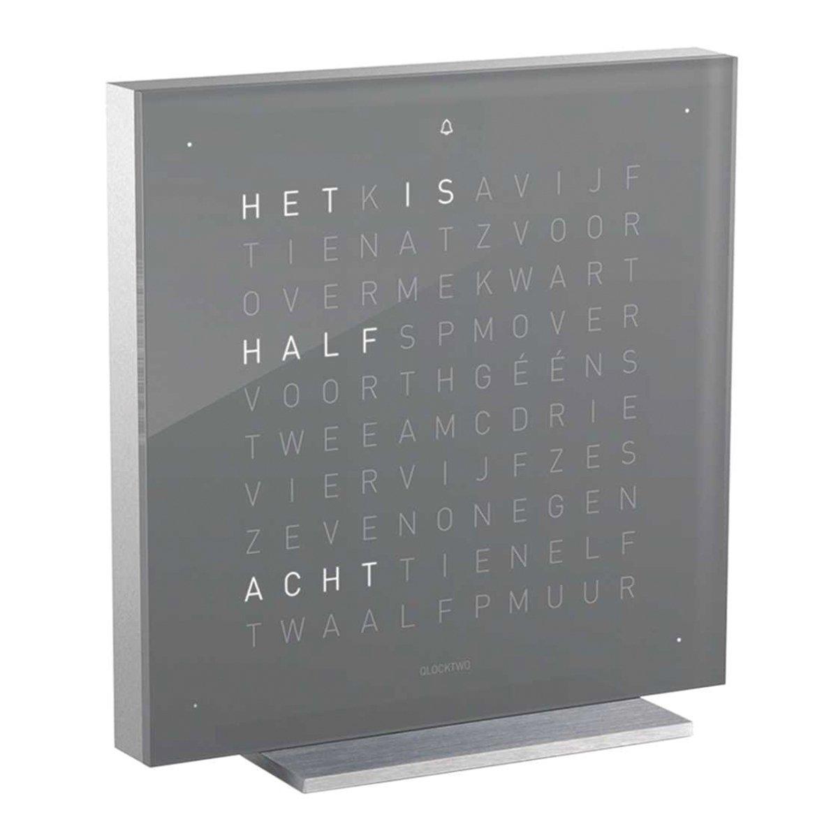 Qlocktwo Touch Acryl Tafelklok Nederlands - Biegert & Funk Early Grey Tea Nederlands