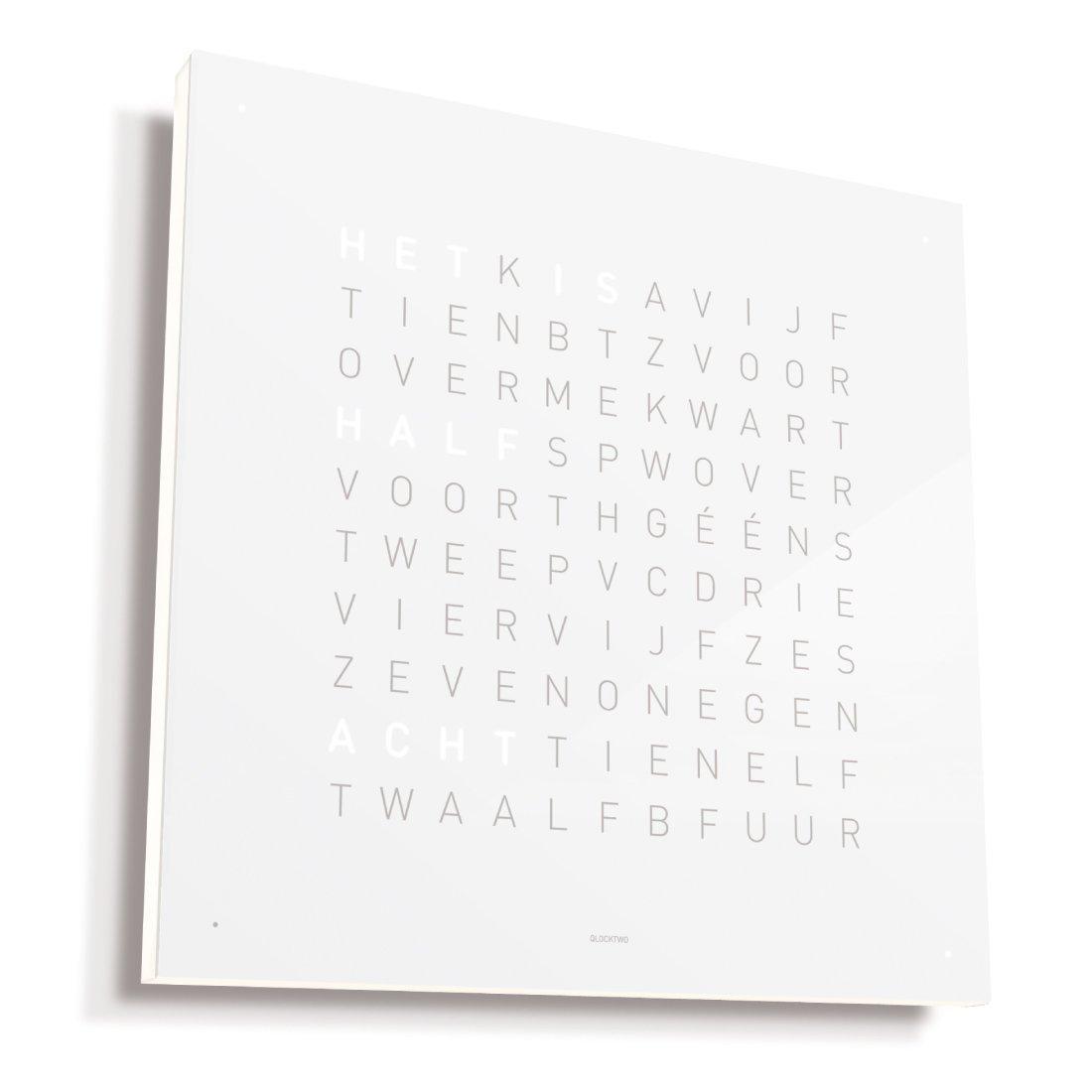 Biegert & Funk Qlocktwo Classic Wit Nederlands