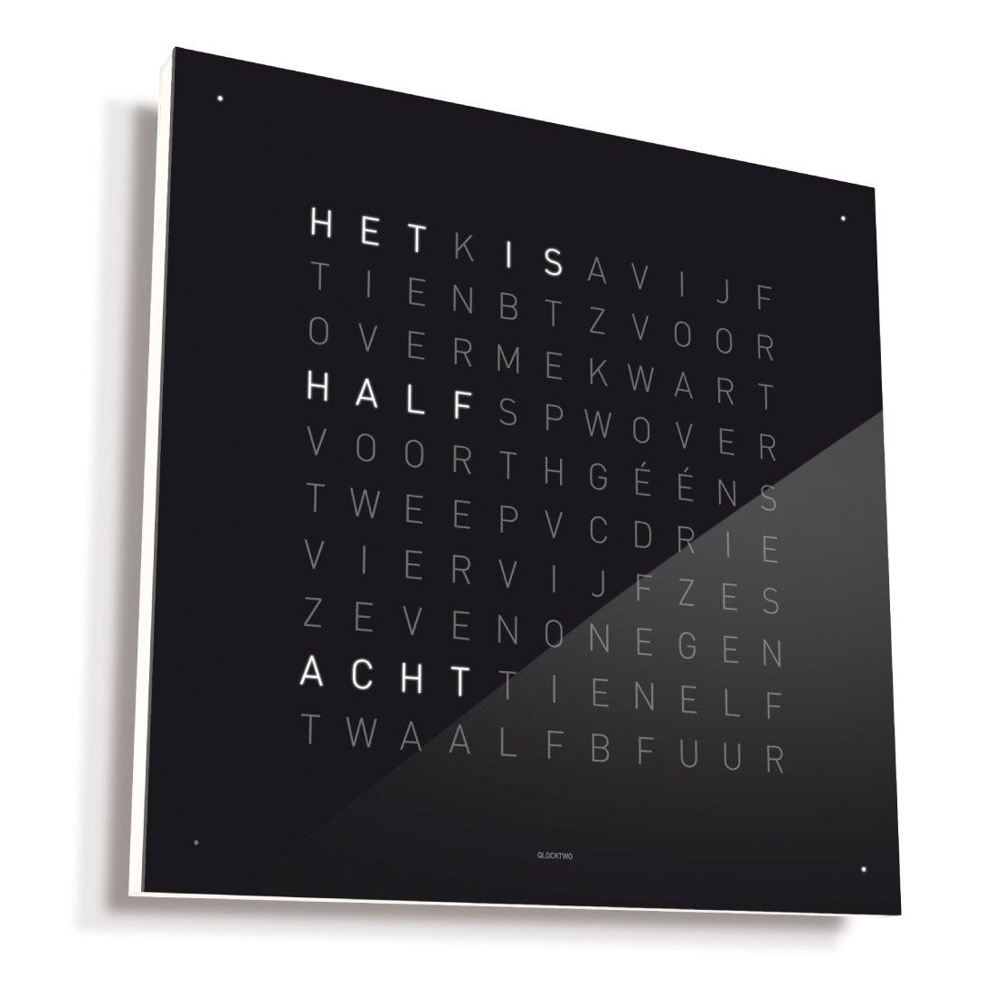 Biegert & Funk Qlocktwo Classic Zwart NL