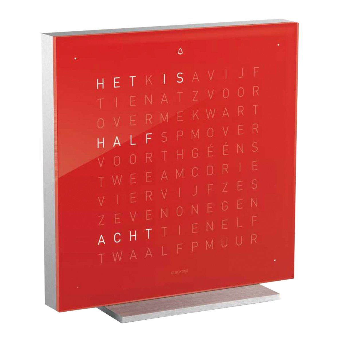 Biegert & Funk Qlocktwo Touch Rood NL