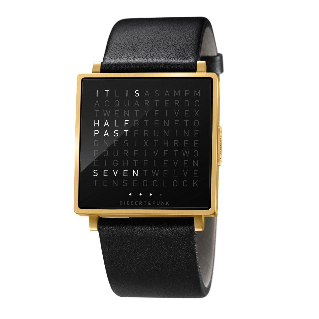 Biegert & Funk Qlocktwo W Horloge, Gold Edition
