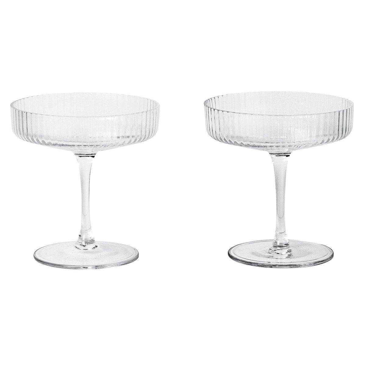 Ferm Living Ripple Champagneglas, set van 2