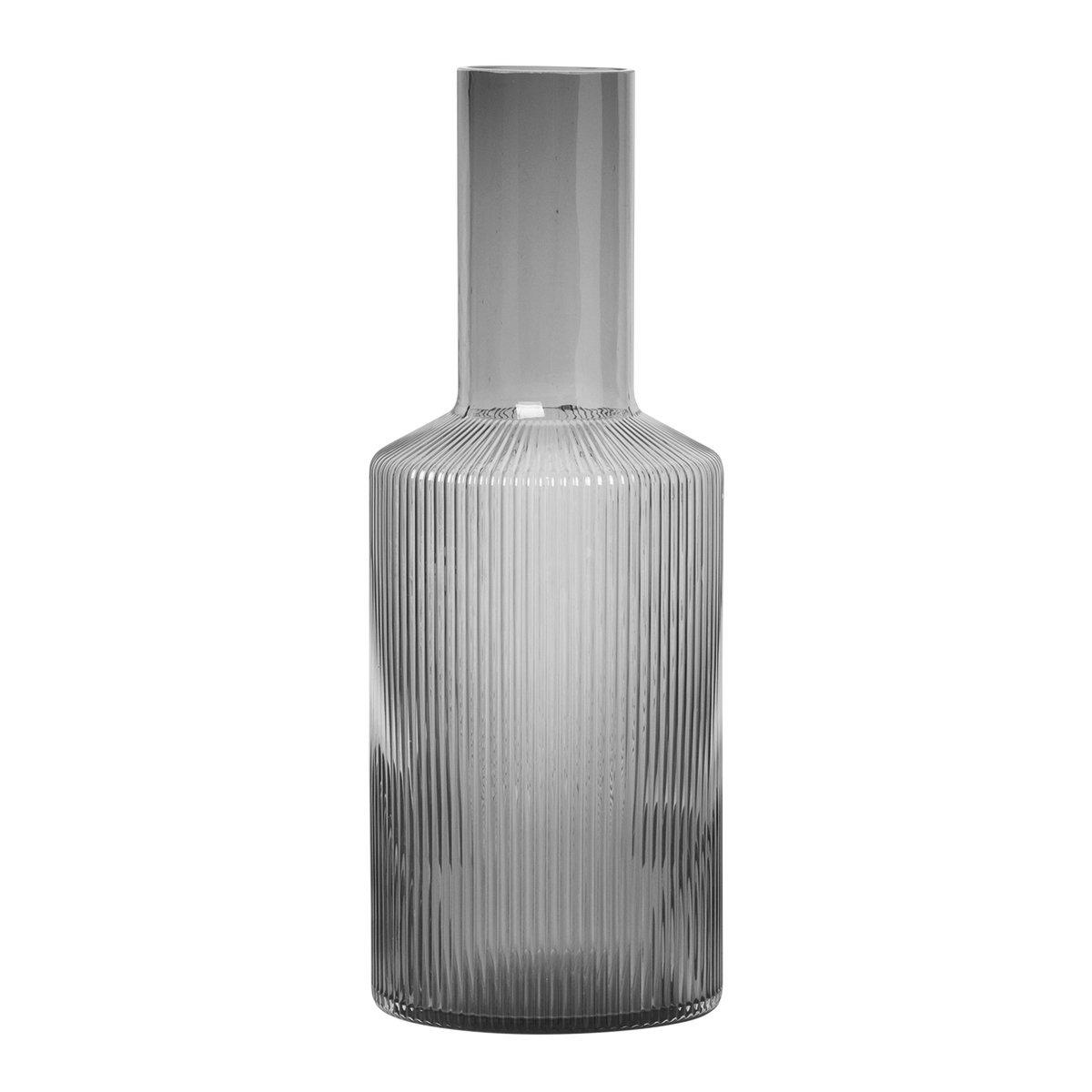 Ferm Living Ripple Karaf - Grijs Gerookt Glas