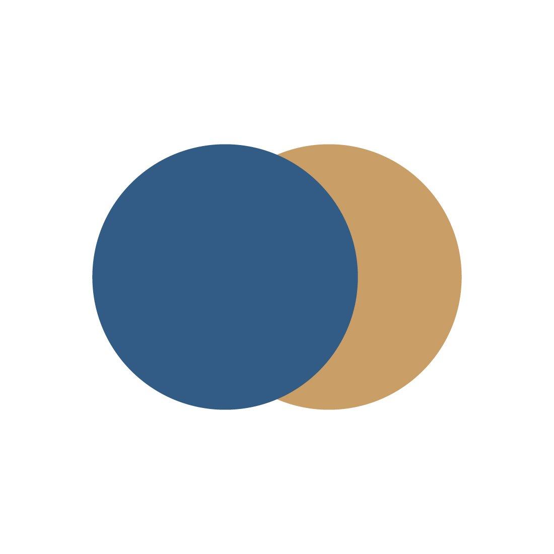 Marset Scotch Plafondlamp Blauw - Goud