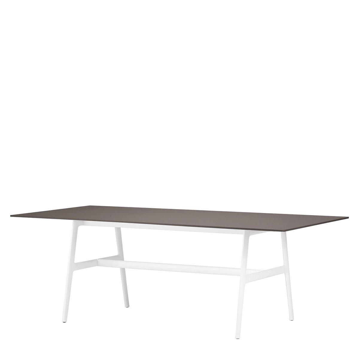 DEDON SEAX Eettafel - 100 x 220 cm. - ebony - wit