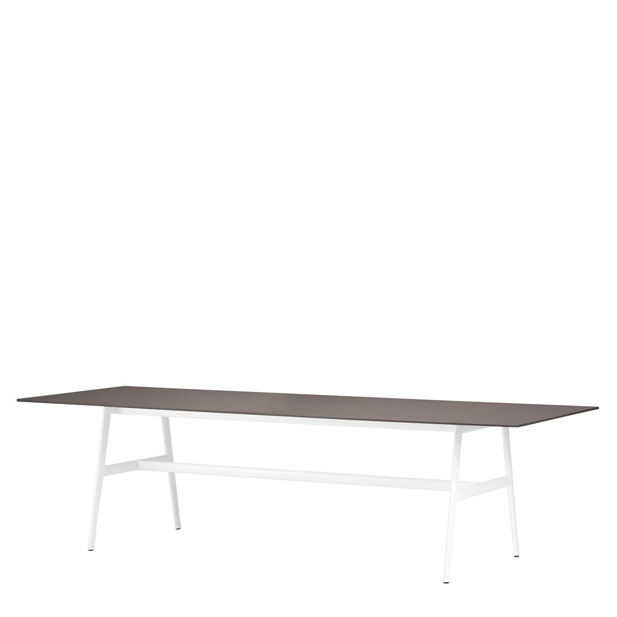 DEDON SEAX Eettafel - 100 x 280 cm. - ebony - wit