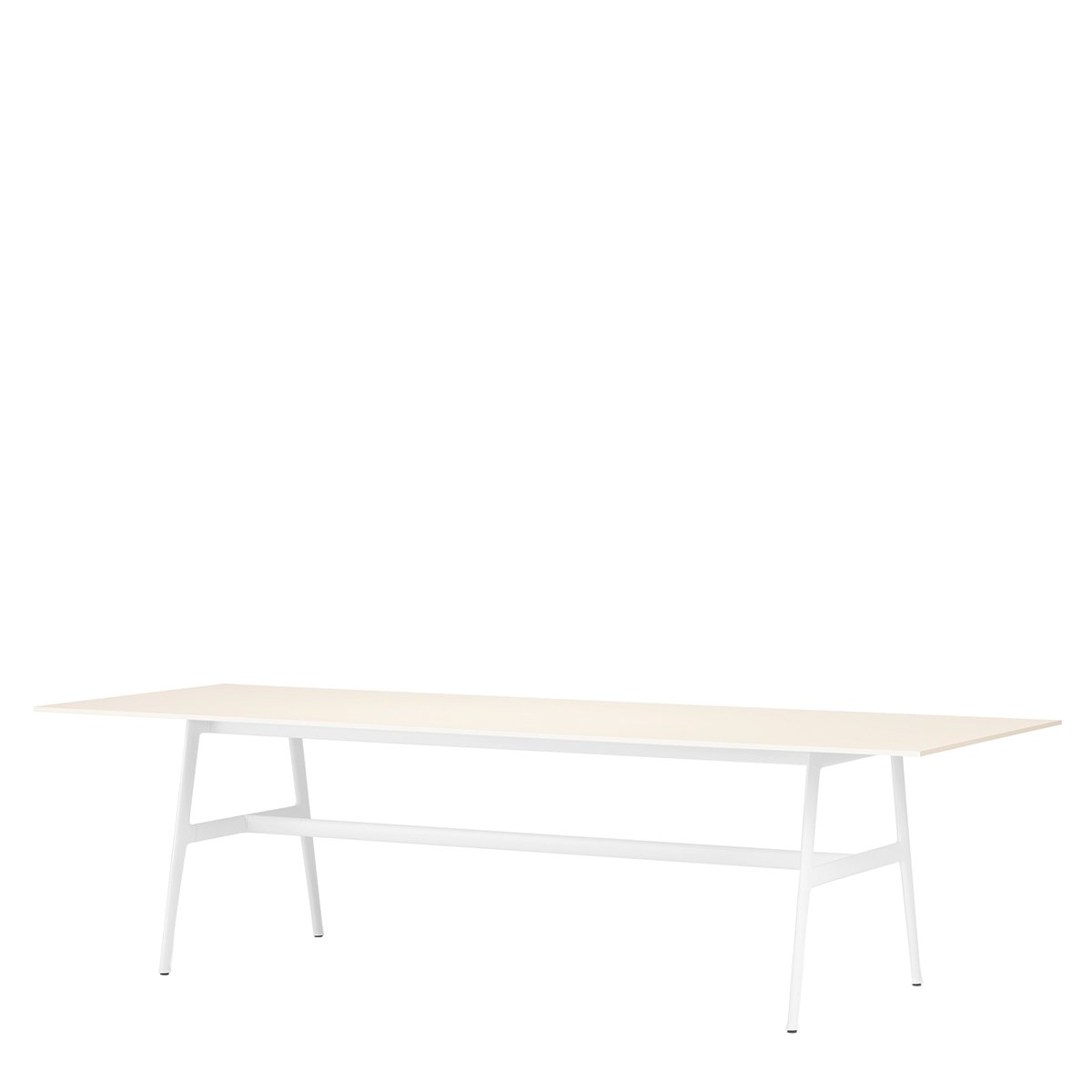 DEDON SEAX Eettafel - 100 x 280 cm. - wit - wit
