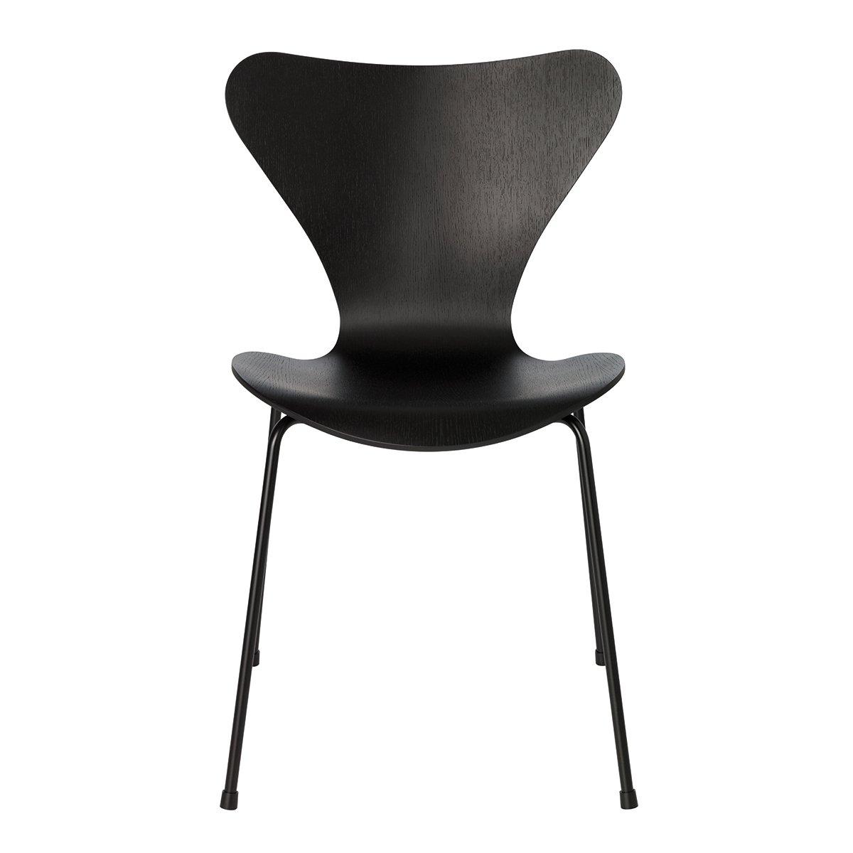 Fritz Hansen Series 7 Vlinderstoel Monochrome - Zwart Gekleurd Essen