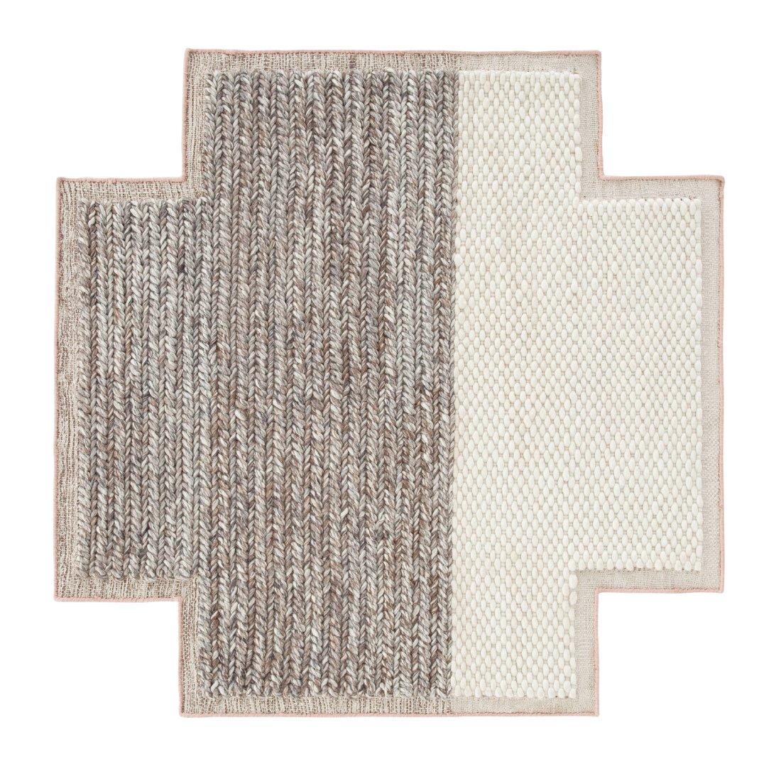Square Rhombus Mangas Space Ivory S - Gan Rugs