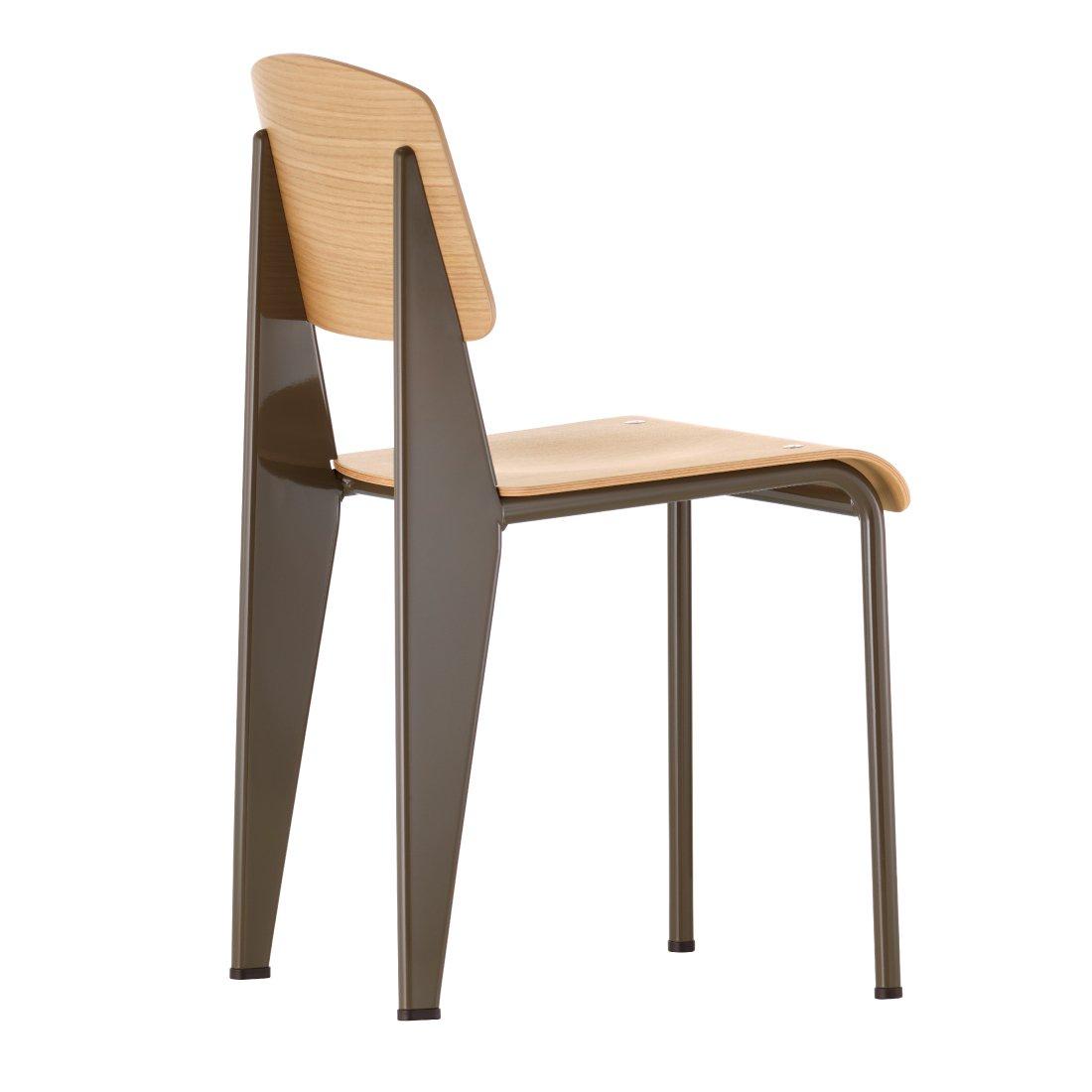 Vitra Standard SP Chair Stoel Naturel Eiken Coffee