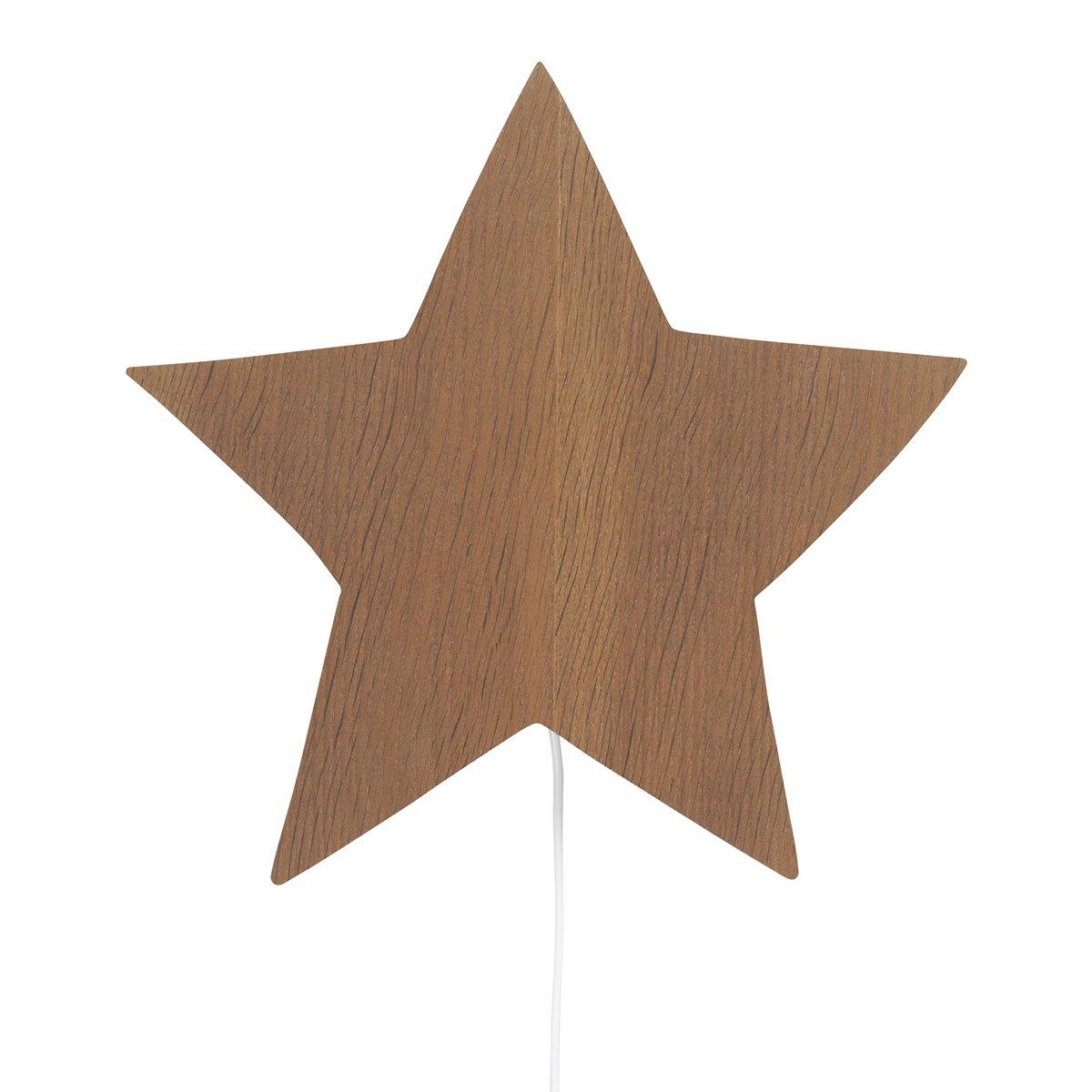 Ferm Living Star Wandlamp - Gerookt Eiken