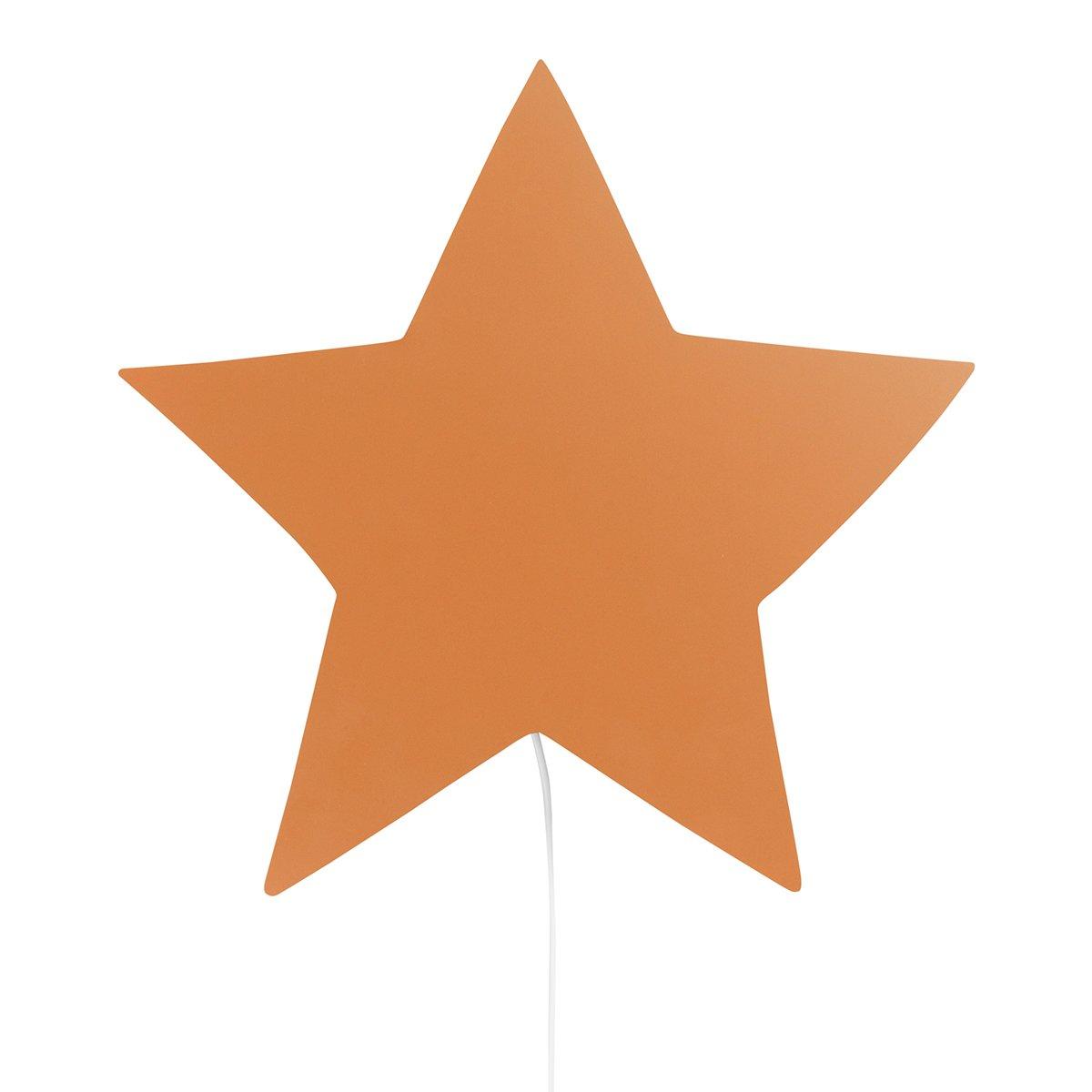 Ferm Living Star Wandlamp - Mosterdgeel