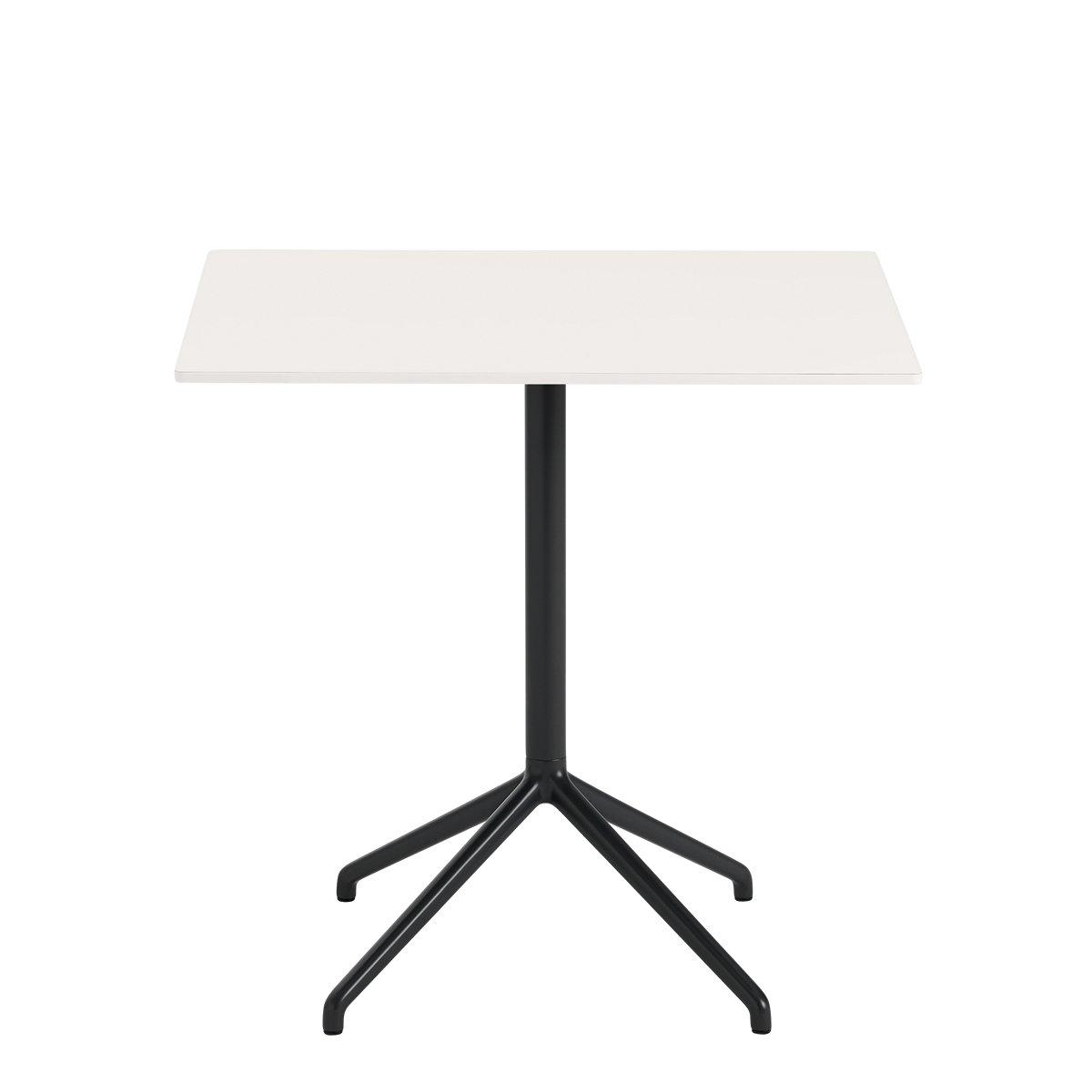 Muuto Still Caf� Tafel Rechthoekig Wit - Zwart - Hoogte: 73 cm.