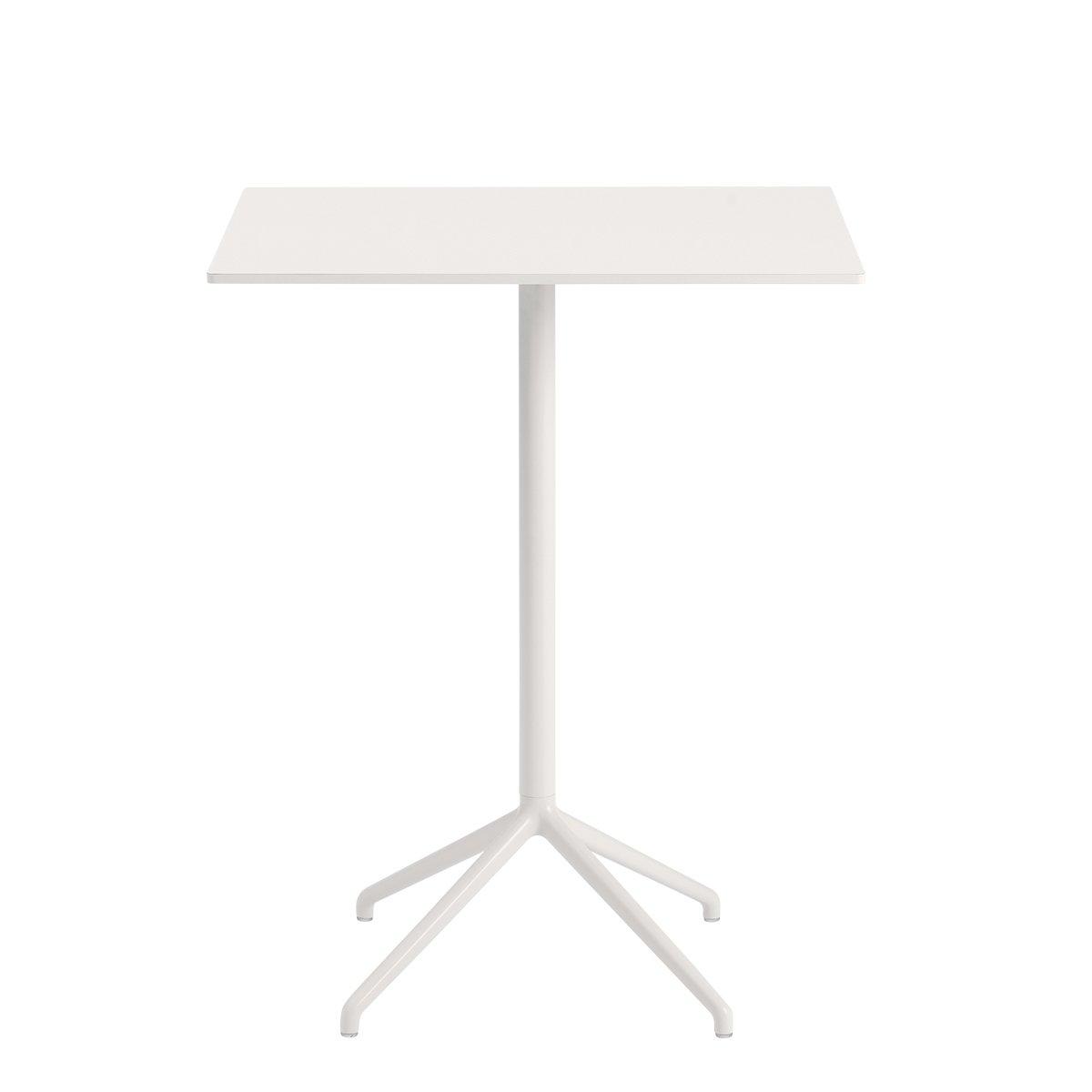 Muuto Still Caf� Tafel Rechthoekig Wit - Wit - Hoogte: 95 cm.
