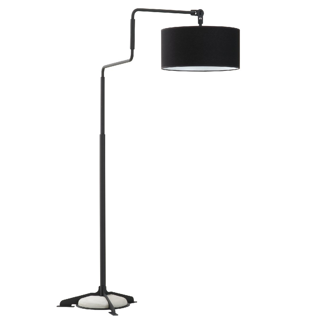 Swivel Light Vloerlamp Zwart