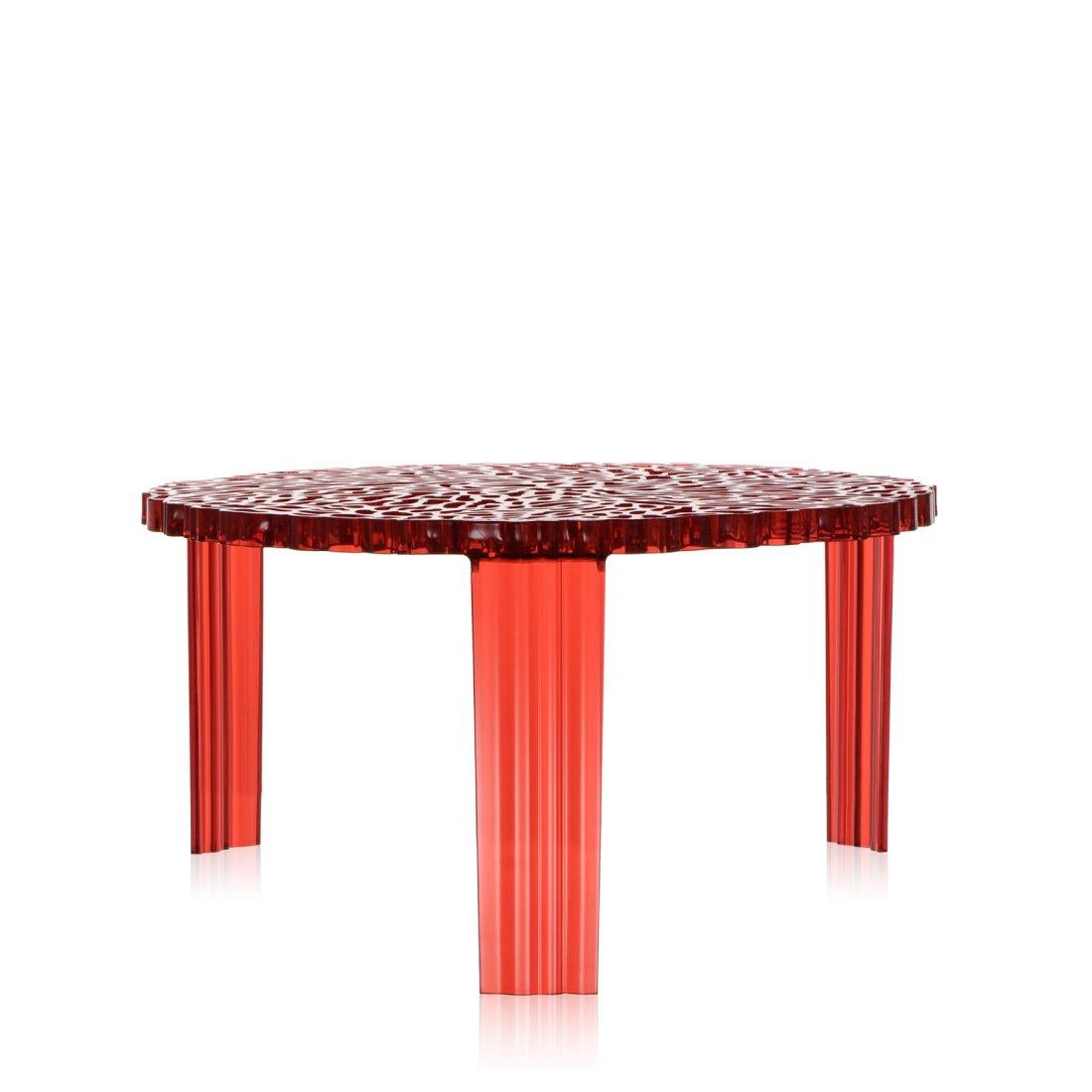 Kartell T-Table Tafel � 50 cm Rood
