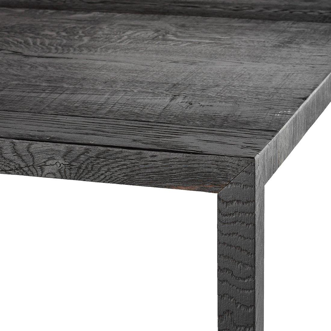 MDF Italia Tense Carbonised Wood Eettafel 400 x 120 cm.