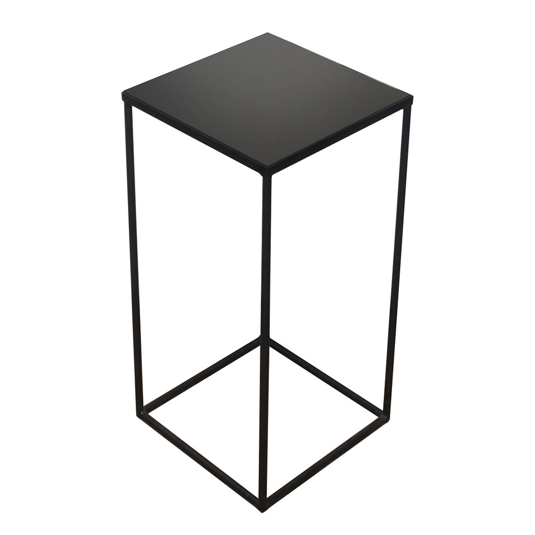 Ethnicraft Square Side Table Charcoal Mirror Small - Mid