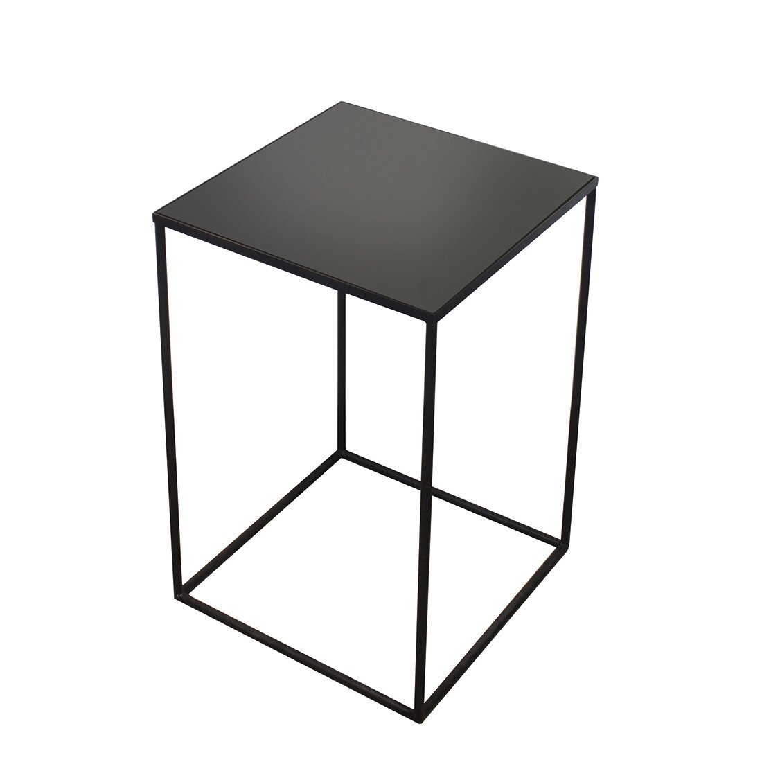 Ethnicraft Square Side Table Charcoal Mirror Large - Mid