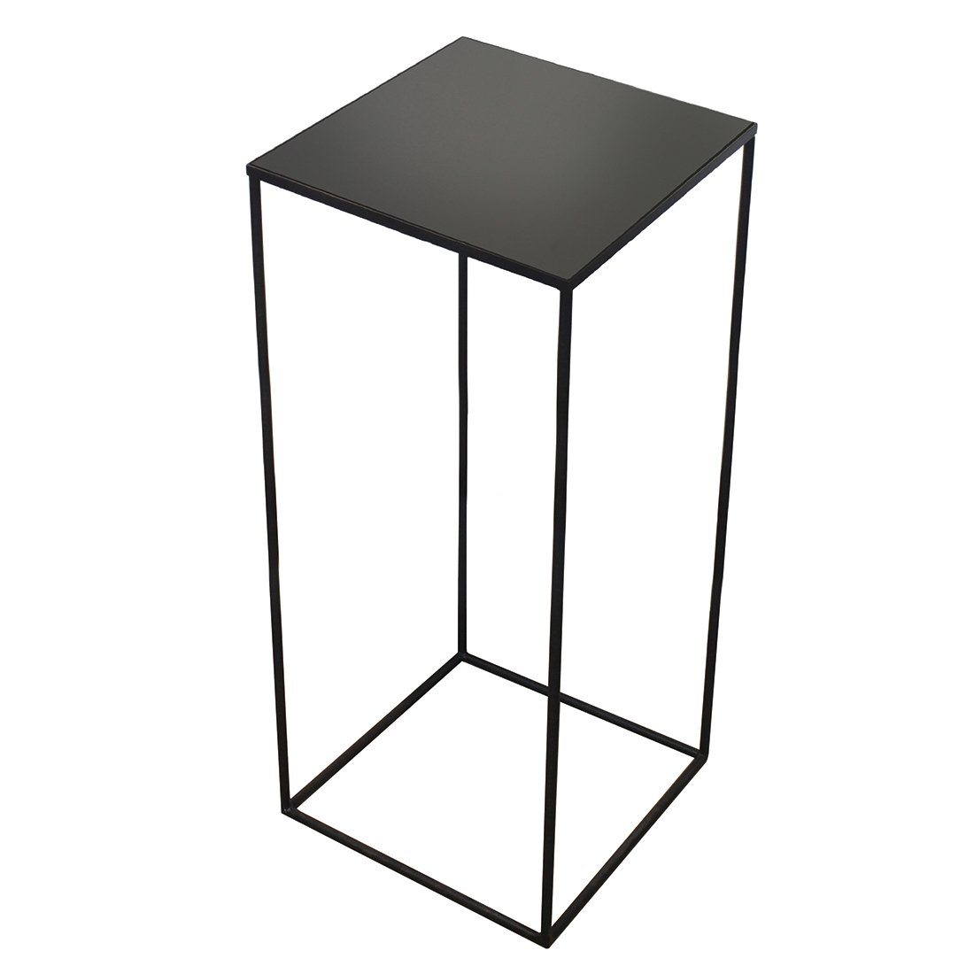 Ethnicraft Square Side Table Charcoal Mirror Large - Heigh