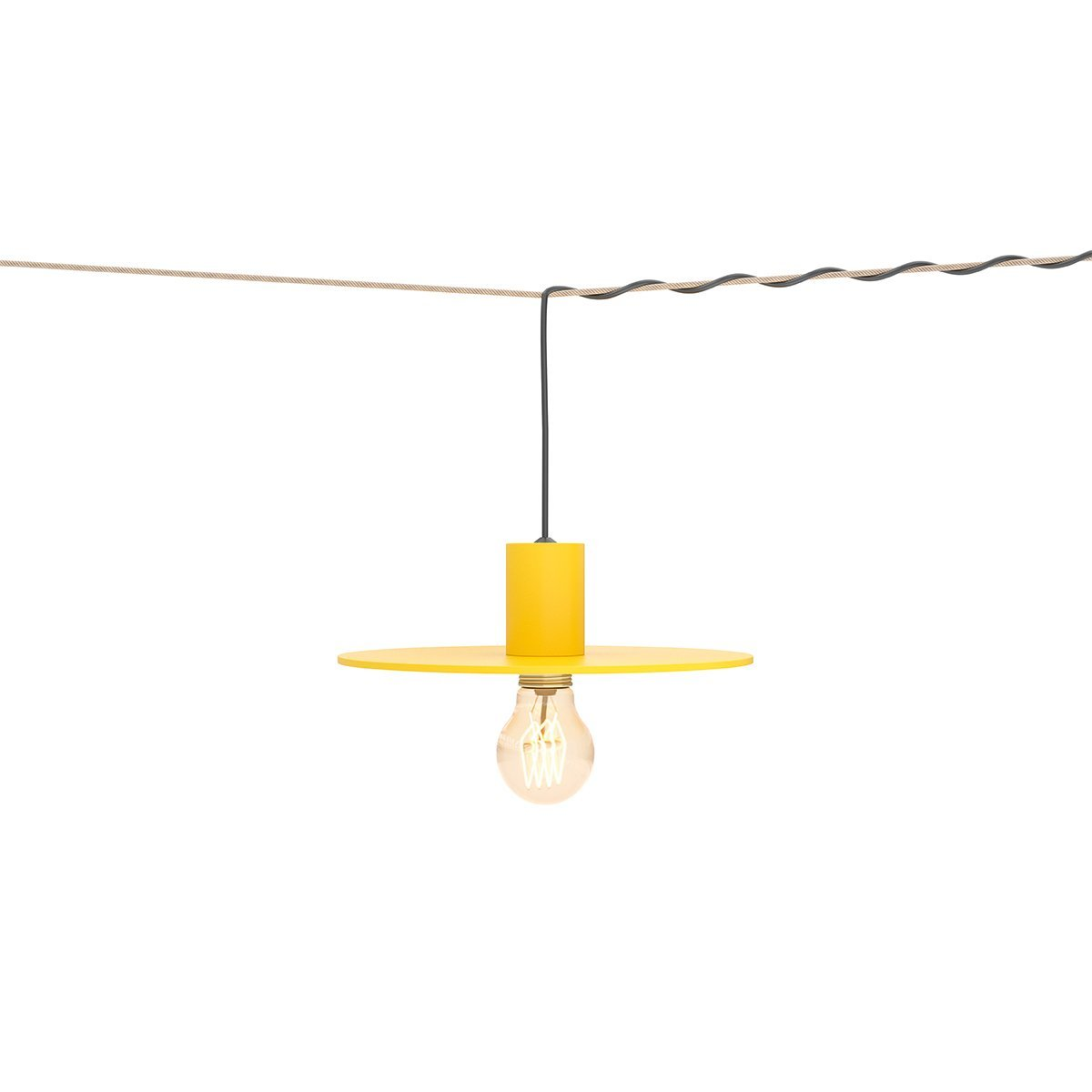 W�nder The Disc Hanglamp - Geel RAL1018