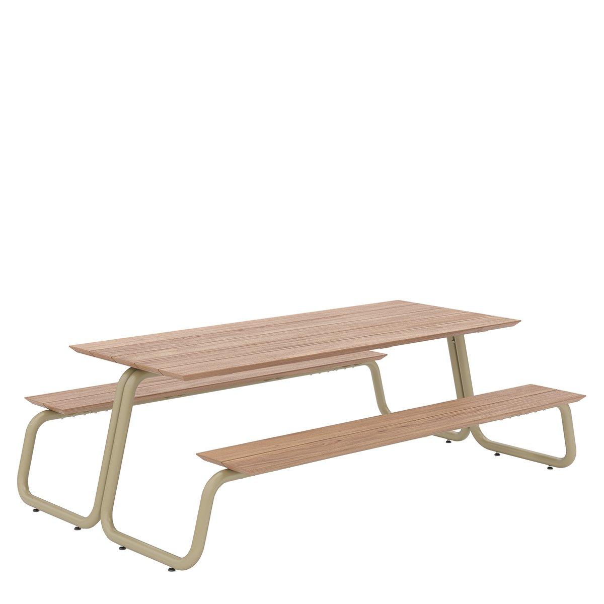 W�nder The Table Eettafel - Small Geelgrijs RAL7034