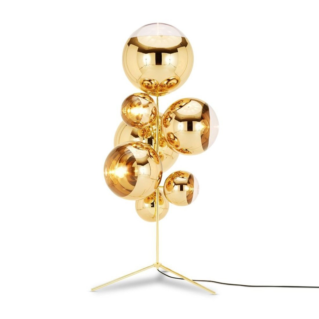 Tom Dixon Mirror Ball Vloerlamp goud