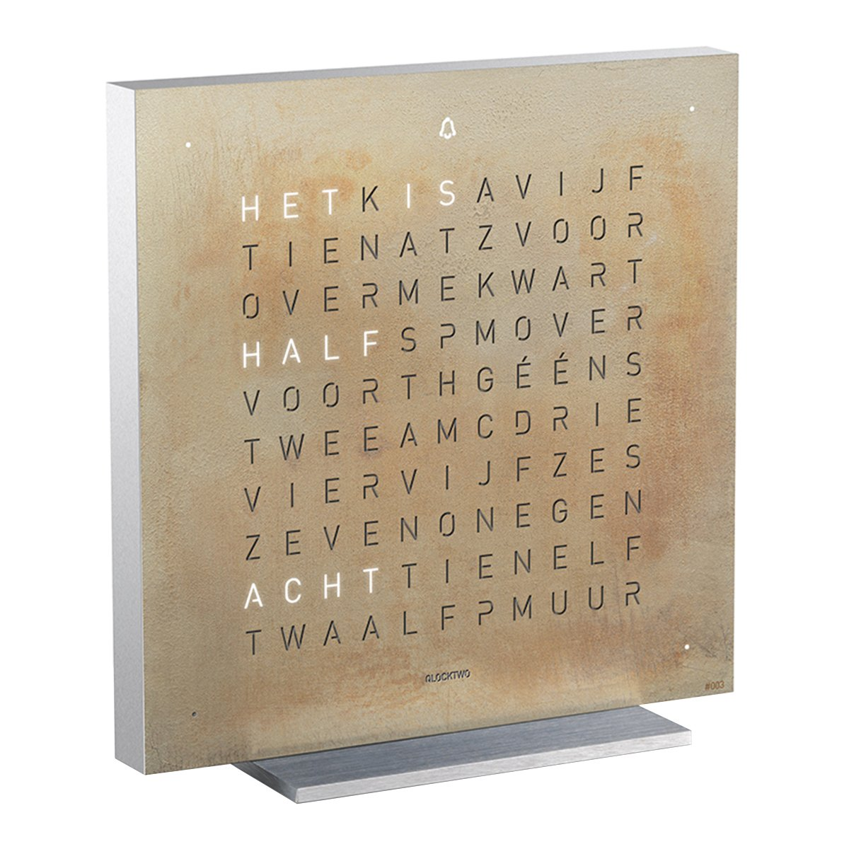 Qlocktwo Touch Metaal Tafelklok - Biegert & Funk - Silver & Gold - NL