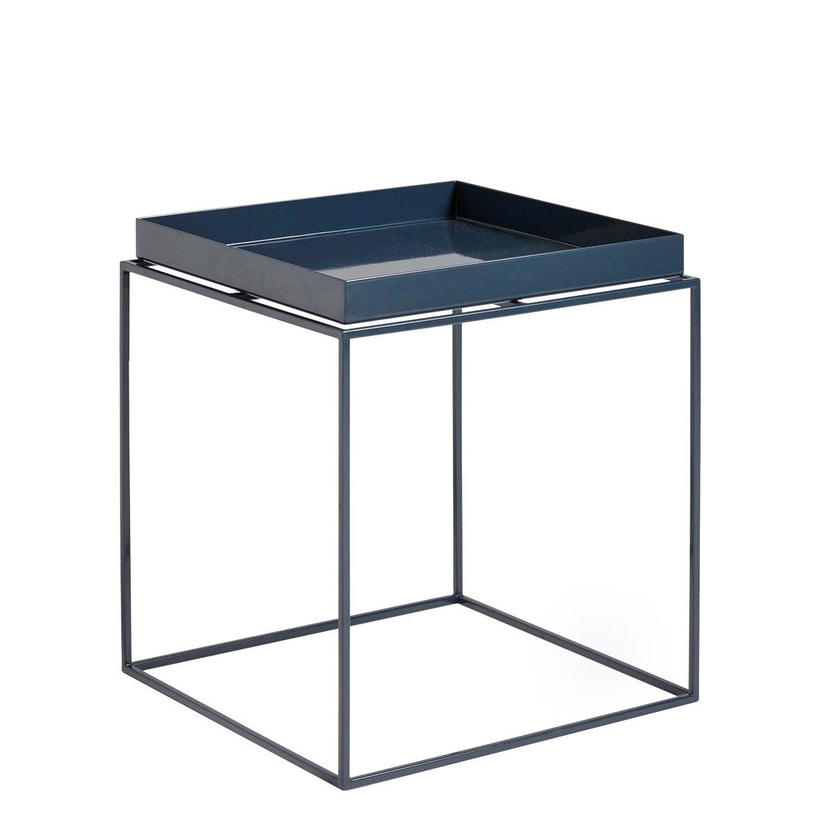 HAY Tray Salontafel - Deep Blue High Gloss 40x40x44