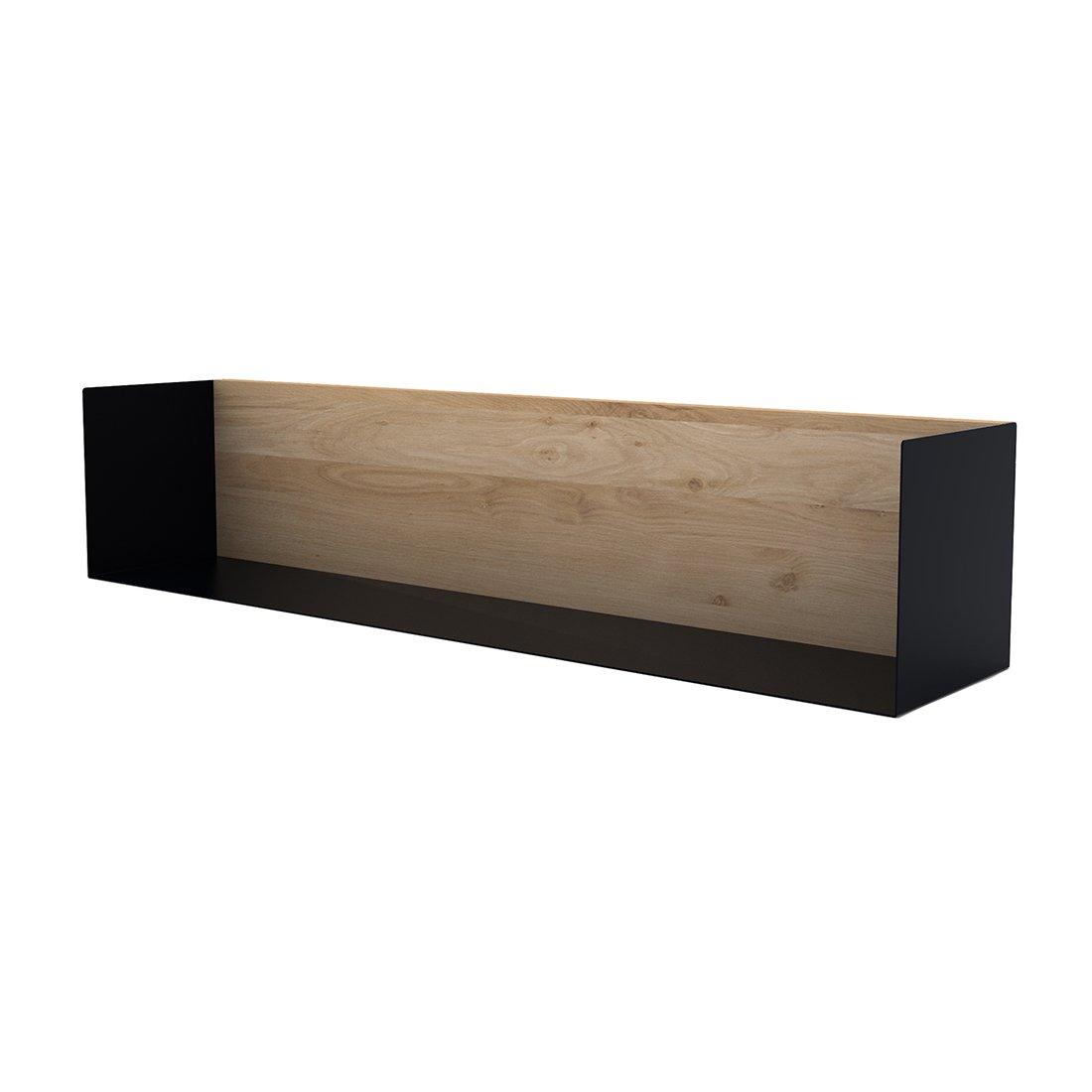 Ethnicraft U-Shelf Wandplank Zwart Large